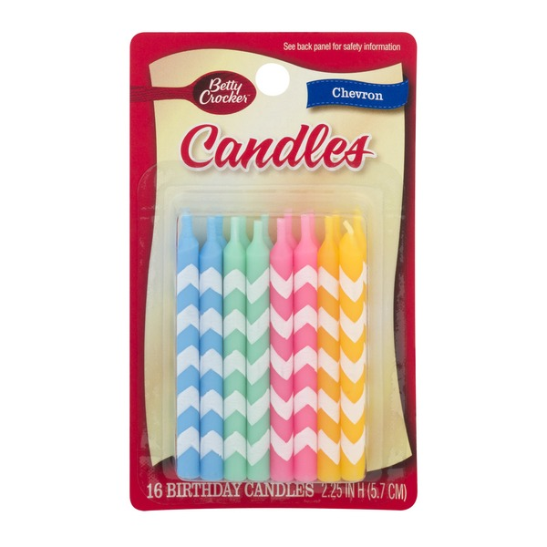 Safeway Betty Crocker Birthday Candles Chevron