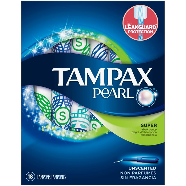 Tampax Pearl Super Unscented Tampons