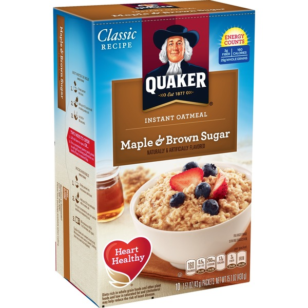 Quaker Oatmeal Instant Maple Brown Sugar