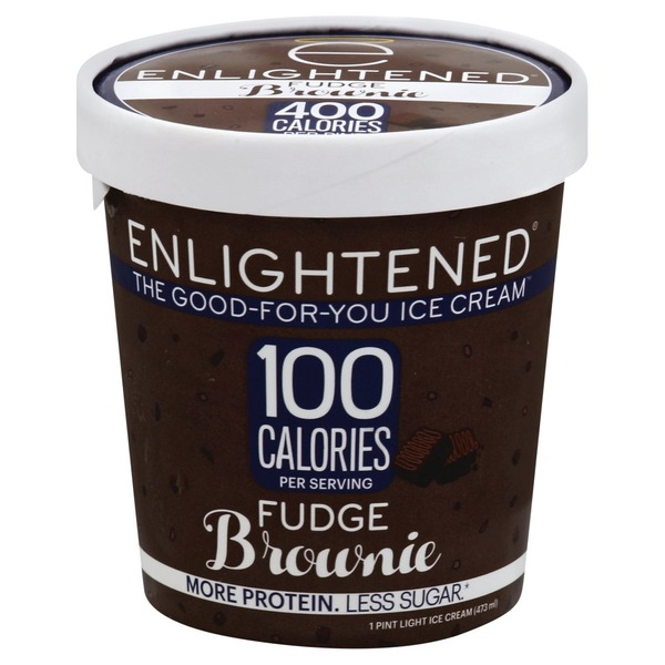 Enlightened Ice Cream Light Fudge Brownie