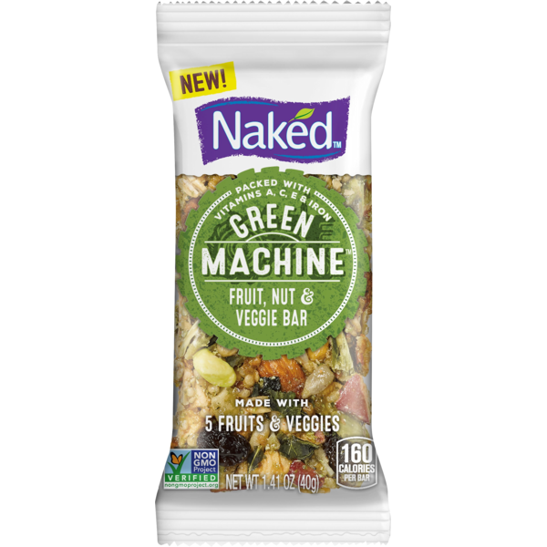 Naked Green Machine Fruit, Nut & Veggie Bar   Plastic Bag