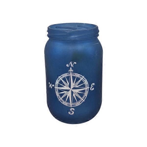 Debi Lilly Design 59 Ounce Nautical Mason Jar Collection Each