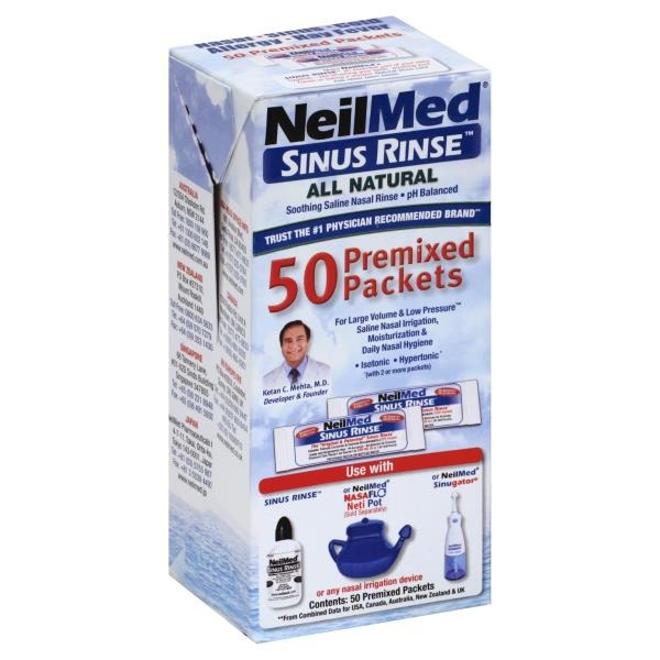 Neilmed Sinus Rinse 50 Premixed Packets (50 ct) from Giant