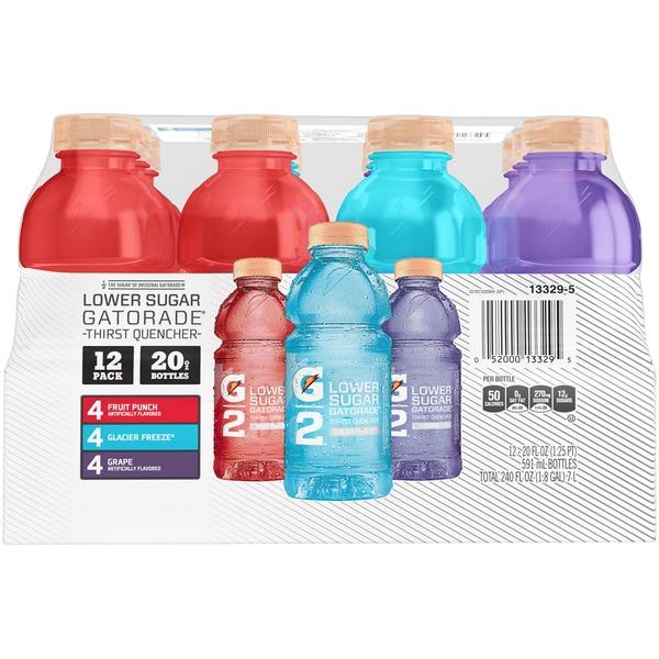 58501e908f32d Gatorade G2 Low Calorie Thirst Quencher Variety Pack 20 Fl Oz 12 ...