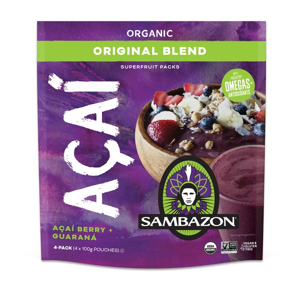 Sambazon Organic Original Acai Berry + Guarana Smoothie Packs