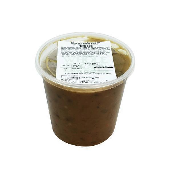 Whole Foods Mushroom Barley Soup
