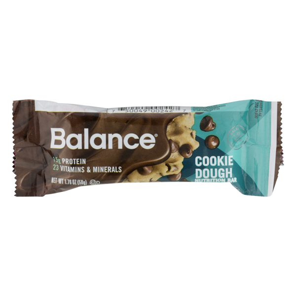 big y world class market balance bar cookie dough nutrition bar