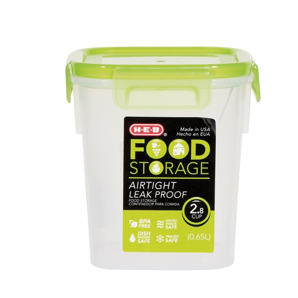 H E B 28 Cup Airtight Leak Proof Food Storage Container With Green