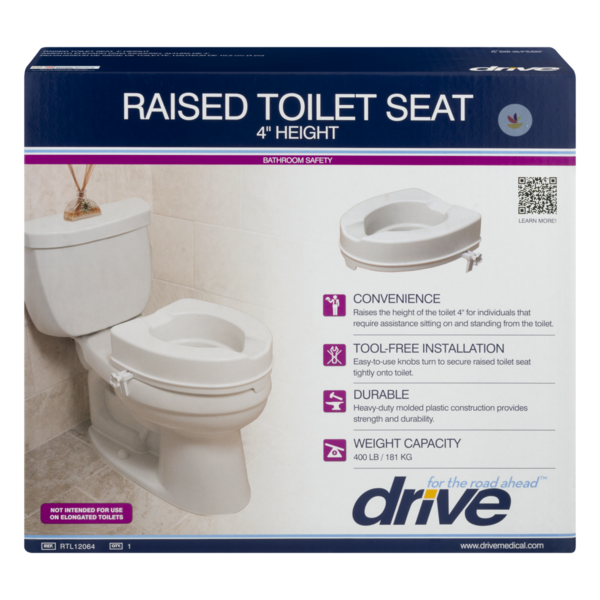 Drive Raised Toilet Seat With Arms.Drive Raised Toilet Seat 4 Height 1 Ct From Jewel Osco Instacart