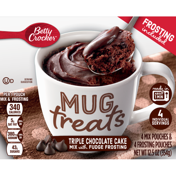 Betty Crocker Mug Treats Triple Chocolate Cake 12 5 Oz From Publix