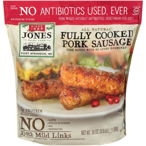 Jones Dairy Farm Fully Cooked Pork Sausage Links 56 Oz Instacart