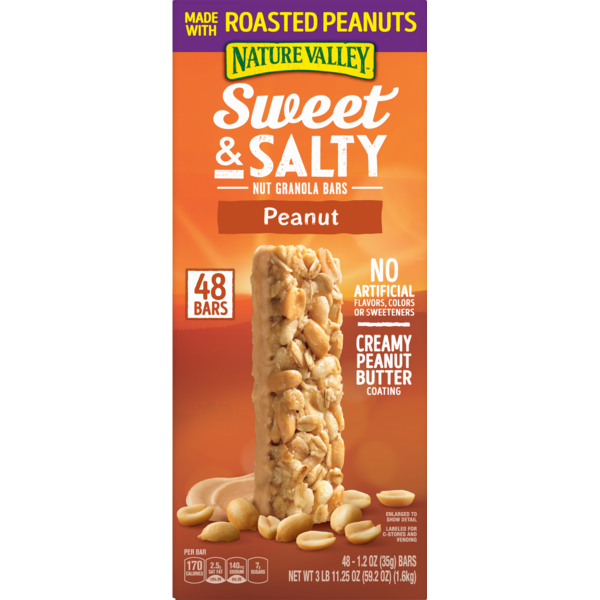 Nature Valley Granola Bars, Sweet and Salty, Peanut (1 2 oz) from