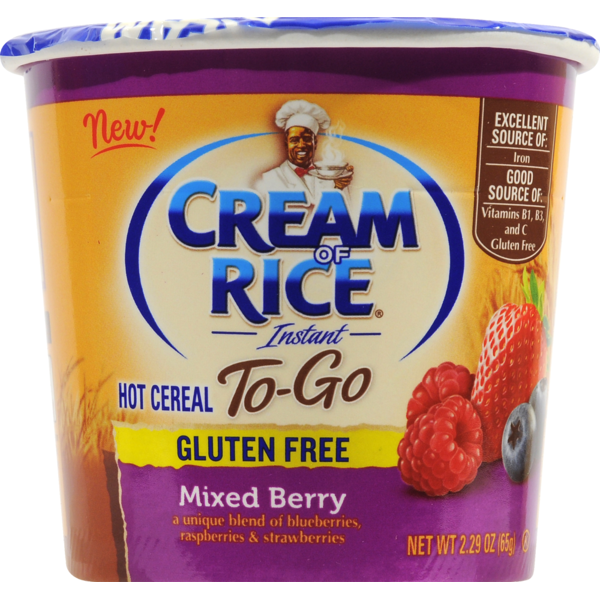 Cream Of Rice To-Go Mixed Berry Gluten Free Cream of Rice To-Go Mixed Berry Gluten Free Instant Hot Cereal (2.29 oz) from Safeway - Instacart