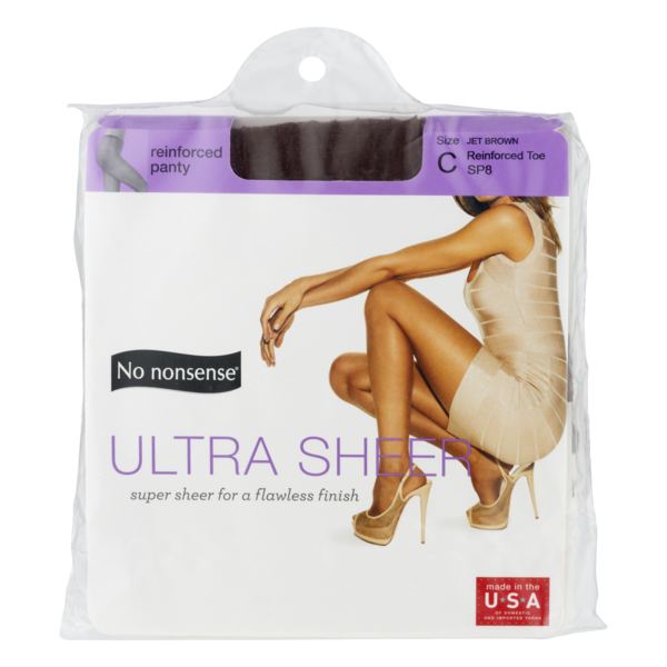 54adbd06ca4 No nonsense Reinforced Panty Ultra Sheer Size C Jet Brown (1 ct ...