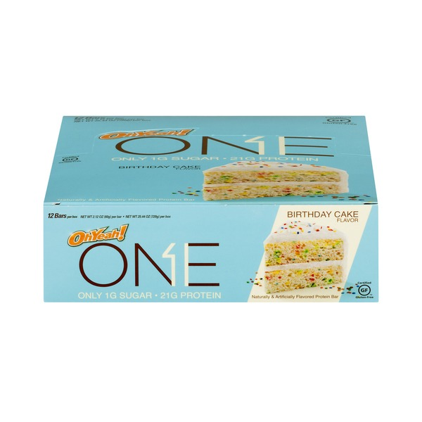 Awe Inspiring One Birthday Cake Flavored Protein Bar 2 12 Oz From Hy Vee Funny Birthday Cards Online Fluifree Goldxyz