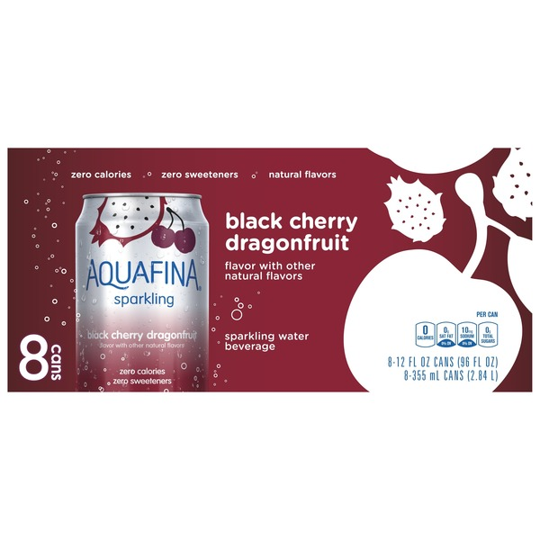 5c44174e28 Randalls. Aquafina Sparkling Black Cherry Dragonfruit Water Beverage