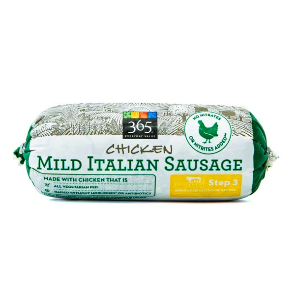 365 Mild Italian Chicken Sausage 14 Oz From Whole Foods Market