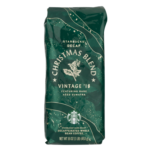 Starbucks Christmas Coffee.Starbucks Decaf Whole Bean Coffee Christmas Blend 16 Oz