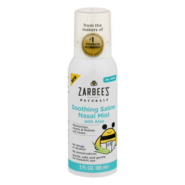 Zarbees Soothing Saline Nasal Mist With Aloe 3 Fl Oz From Cvs