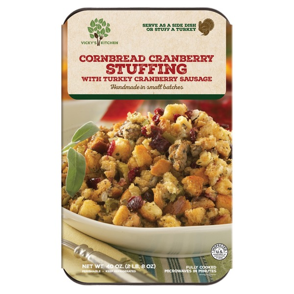 Vicky S Kitchen Corn Bread Stuffing With Sausage 40 Oz