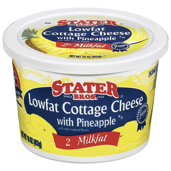 Stater Bros Lowfat Cottage Cheese With Pineapple