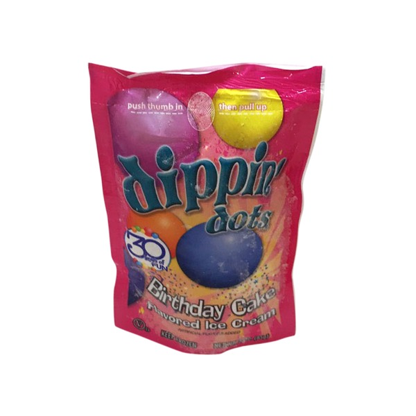 Dippin Dots Birthday Cake Flavored Ice Cream 3 Oz From Albertsons