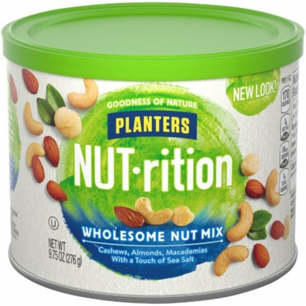 Planters NUT-rition Wholesome Planters NUT-rition Wholesome Nut Mix on capri sun nutritional information, peanut m & m's nutritional information, coca-cola nutritional information,