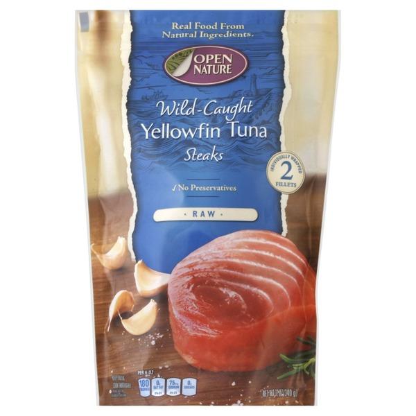 Open Nature Tuna, Wild-Caught, Yellowfin, Steaks (2 each