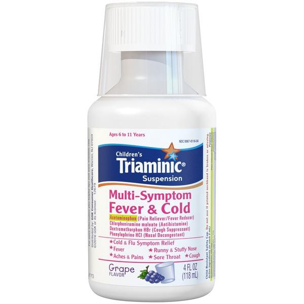 Triaminic Suspension Children S Fever Cold Multi Symptom