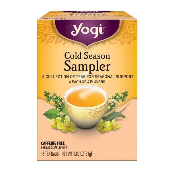 Cold season tea sampler (16 bag) by yogi tea at the vitamin shoppe.