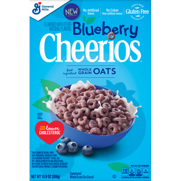 Cheerios Blueberry Cereal, Gluten Free Breakfast Cereal