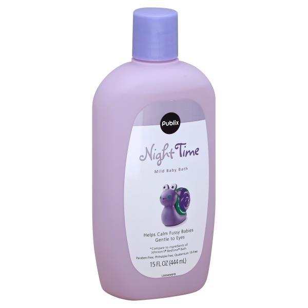 Publix Night Time Mild Baby Bath (15 fl oz) from Publix - Instacart