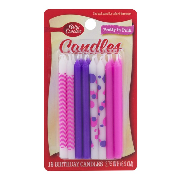 Betty Crocker Birthday Candles Pretty In Pink