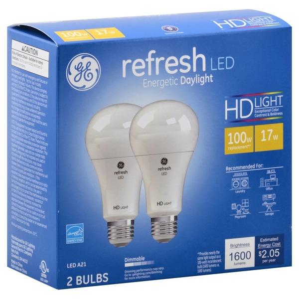 Ge Light Bulbs Led Daylight 17 Watts 2 Each From Fred Meyer