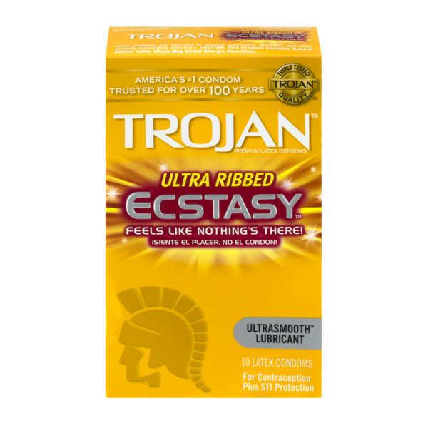Trojan Ecstasy Ultra Ribbed Condoms From Cvs Pharmacy Instacart