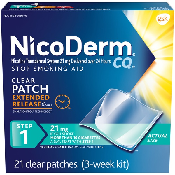 Nicodermcq Nicotine Transdermal System 21 Mg Delivered Over 24 Hours