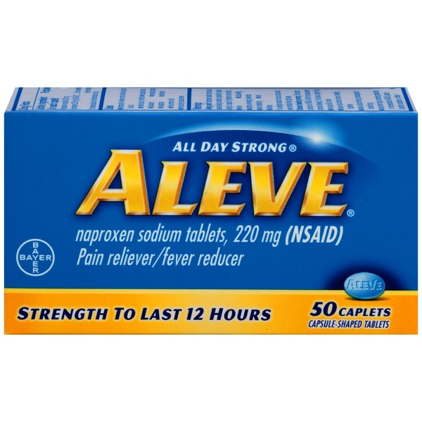 Aleve Naproxen Sodium Tablets 220 Mg Nsaid Pain Relieverfever