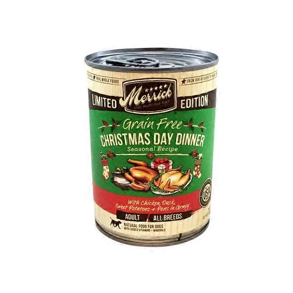 Christmas Dinner In A Tin.Merrick Limited Edition Grain Free Christmas Day Dinner With