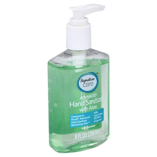 Signature Care Hand Sanitizer Advanced With Aloe 8 Oz Instacart