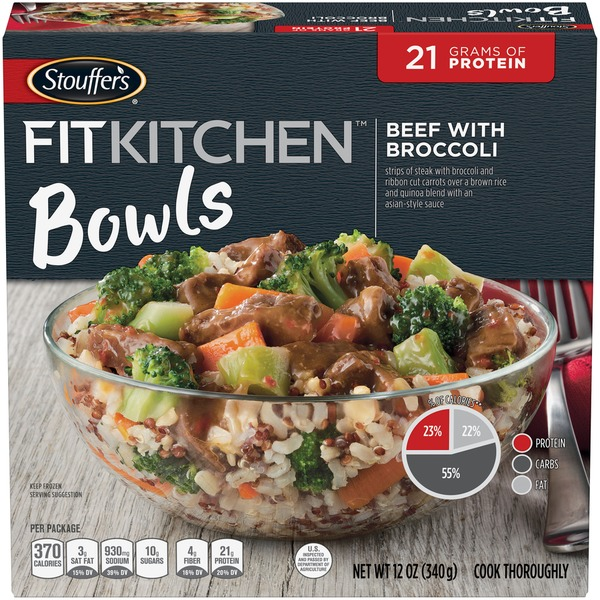 Fit Kitchen: Stouffer's Fit Kitchen Bowls Beef With Broccoli From Stop