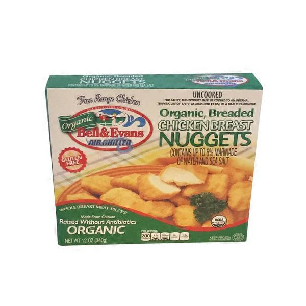 Bell Evans Organic Breaded Chicken Breast Nuggets From Whole