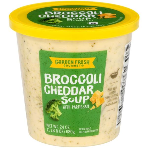 Garden Fresh Gourmet Broccoli Cheddar Soup with Parmesan (24.0 oz ...