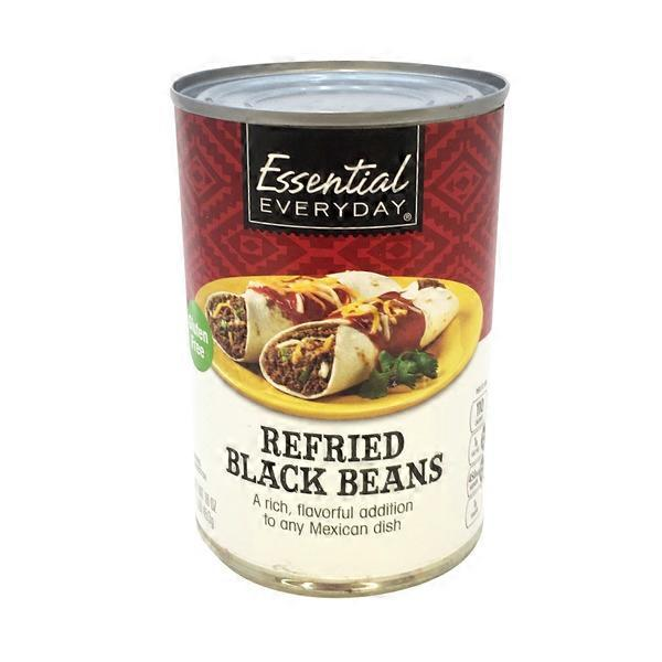 Essential Everyday Refried Black Beans (16 oz) from Shop N ...