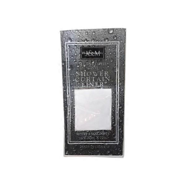 JM Home Fashions 70 X 72 White Magnetic Shower Liner