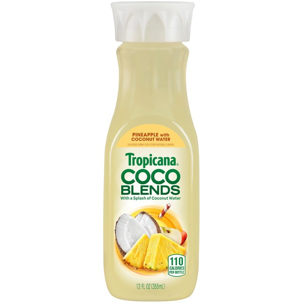 Tropicana Coco Blends Pineapple With Coconut Water Flavored Drink