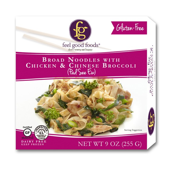 Feel Good Foods Broad Noodles With Chicken Chinese Broccoli
