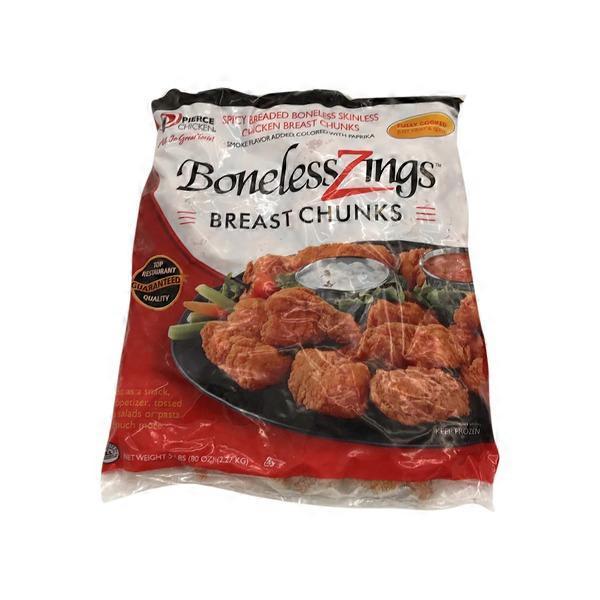 Pierce Boneless Chicken Wing Zings 5 Lb From Smart Foodservice