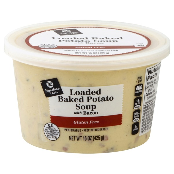 Signature Cafe Rich & Creamy Loaded Baked Potato Soup With Bacon from Vons - Instacart