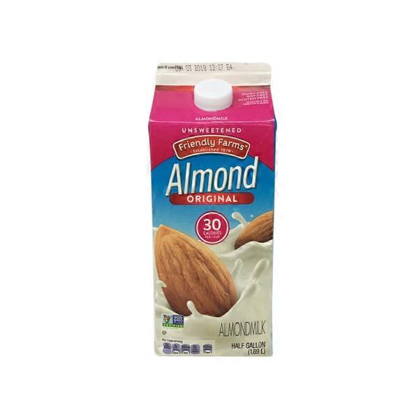 Friendly Farms Original Unsweetened Almond Milk