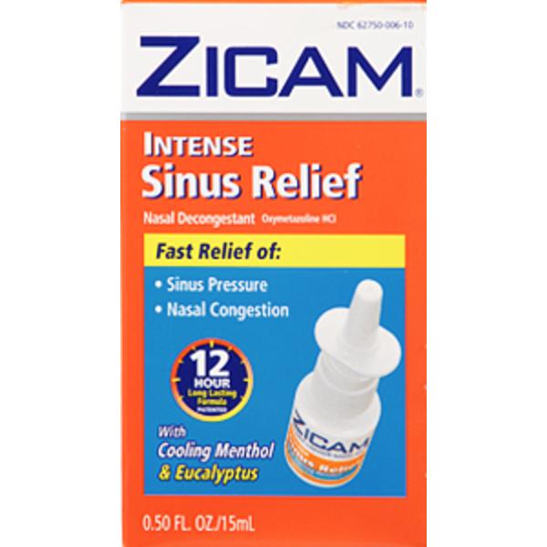 Zicam Nasal Decongestant Cooling Menthol Eucalyptus Intense Sinus